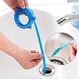 Sansee Teleskopisch Badezimmer Waschbecken Kanalisation Anti-Verstopfung Sinken Haare Reiniger Abfluss Haarfänger Reinigungswerkzeug (Blau)