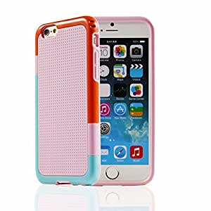 iPhone 6 Plus 5.5 Case - [Multicolor Series] JOTO Slim Hybrid Cover Case (Flexible TPU + PC) Exclusive for Apple iPhone 6 Plus 5.5' (Blue, Pink)