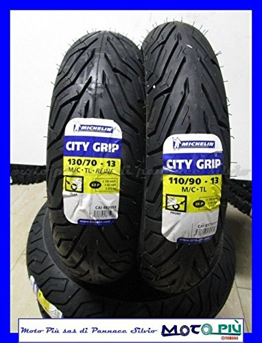 Paire Gommes - Pneu MICHELIN CITY GRIP 110/90 - 13 56P 130/70 - 13 63P Dot 2017