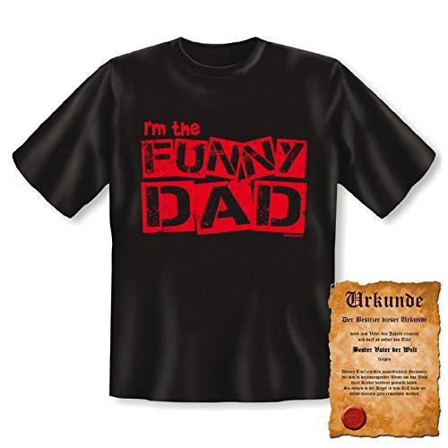 Cooles Funshirt - Tshirt - Geschenk mit Urkunde - Farbe: Schwarz - Funny Dad Schwarz