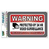 Warnung durch 24Stunde Video Surveillance Trespassers werden verfolgt Mag-Neato 's-TM) Vinyl Magnet Schild