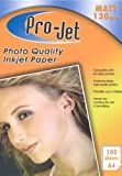 Projet A4 matt 130 GSM inkjet paper single sided pack of 100 sheets photo quality inkjet paper Printer matte paper 130gsm by Projet
