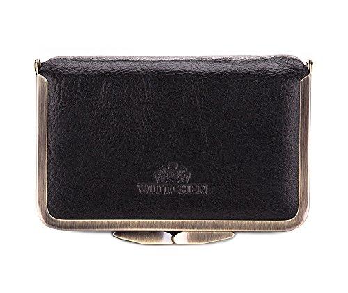 WITTCHEN Vanity | Couleur: Noir | Cuir de grain | La taille (cm): 8,5 x Largeur (cm): 14 | Collection: Italy | 21-3-170-1