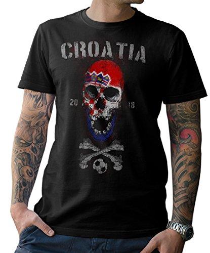 NG articlezz T-Shirt Herren Kroatien Skull Fußball WM 2018 Croatia Weltmeister S-5XL
