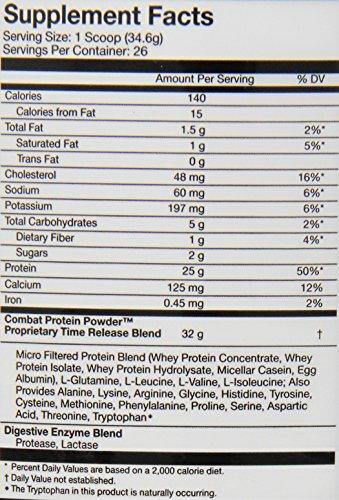 Muscle Pharm 907 g Combat Peach Swirl Protein Powder