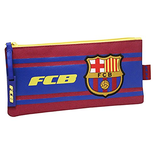 FC BARCELONE - Trousse scolaire simple Rayures FC Barcelone Coupe d'Europe 2016