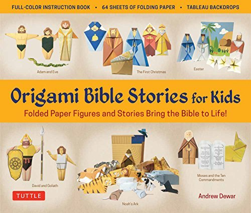 Origami Bible Stories for Kids Ebook: Folded Paper Figures and Stories Bring the Bible to Life! Everything you need is in this box! Full-color book with ... patterned folding sheets] (English Edition)