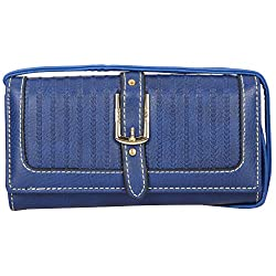 Two fold Clutch-Blue