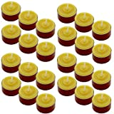 Toms Bienen 72 Teelichter in roten Aluschalen aus 100% reinem Bienenwachs