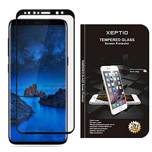 Samsung-Galaxy-S9-4G-Protection-dcran-en-verre-tremp-Full-cover-noir-Tempered-glass-Screen-protector-Films-vitre-Protecteur-dcran-smartphone-2018-Accessoires-XEPTIO