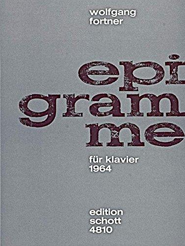 Epigramme: Klavier.
