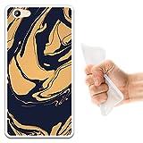 WoowCase Doogee Y300 Hülle, Handyhülle Silikon für [ Doogee Y300 ] Staub in den Wüstenmarmor Handytasche Handy Cover Case Schutzhülle Flexible TPU - Transparent