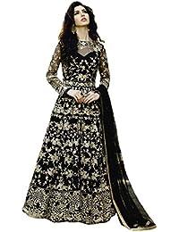 Desinger Net Black Color Embroidered Anarkali Suit