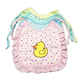 LI & HI Baby Bibs Cute Duck Pattern bibs Dinner Dress Bibs (4 pieces)