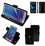 Case 360° Cover pour Smartphone Blackview BV5000, noir | Fonction Stand Case Wallet BookStyle meilleur prix, la meilleure performance - K-S-Trade (TM)
