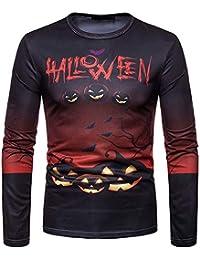 ZIYOU Male Happy Halloween Pullover Herren Langarm Sweatshirt Casual Urlaub Streetwear Druck Top Männer Frühling Herbst Winter