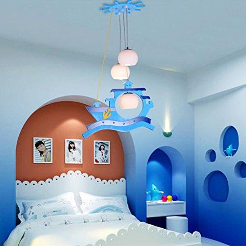 Sky Blue Persönlichkeit Kinderzimmer Leuchten Schlafzimmer Lichter Jungen-Mädchen-Cartoon-Lichter Kronleuchter Kreative Kindliche Lampen - 3