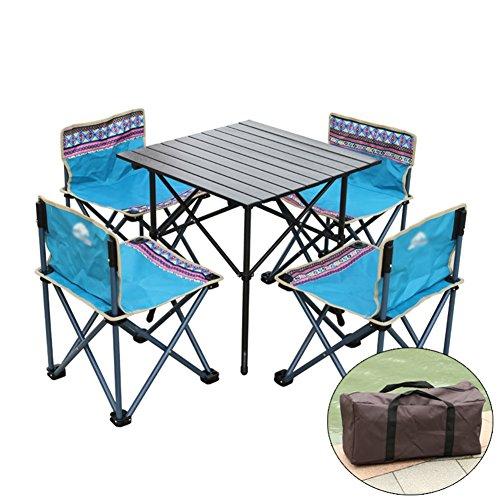 LXYFMS Ensemble De Table Et Chaise Pliante Extérieure De 5 5 Chaise Portative De Table De Conduite Sauvage Table Pliante (Couleur : B, Taille : #2)