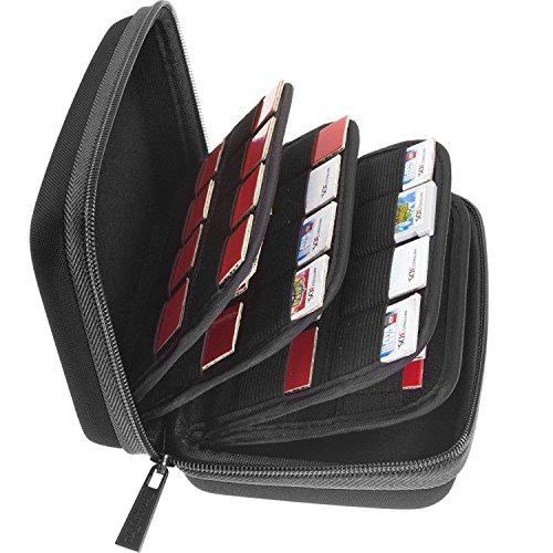 Butterfox 64ゲームカード収納ホルダーハードケース(3DS、2DS、DS用) - ブラック