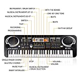 TWFRIC Kids Keyboard with Microphone, Kids Piano Musical Keyboards for Kids Boys Girls Toy Keyboard Piano 61 Keys