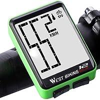 Lixada Cuentakilómetros para Bicicleta Inalámbrico Impermeable Grande Gigital LCD luz de Fondo Termómetro Medida Velocidad Distancia Tiempo
