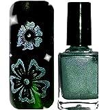 Holo Stampinglack made in Germany, Hologramm Nagellack in verschiedenen Farben (Titan (04))