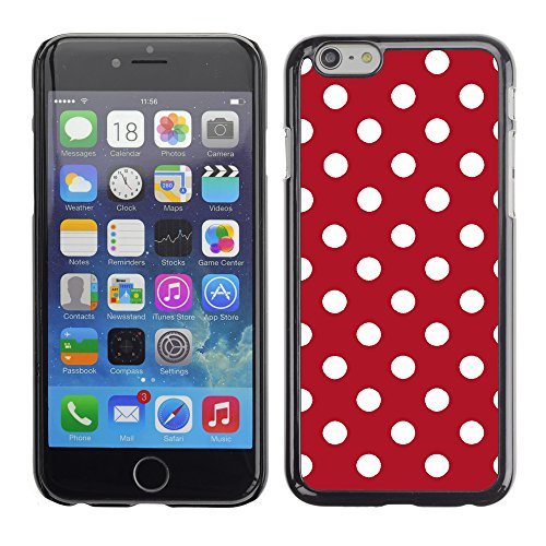Graphic4You Polka Punkt Dots Muster Design Harte Hülle Case Tasche Schutzhülle für Apple iPhone 6 / 6S (Rot) Rot