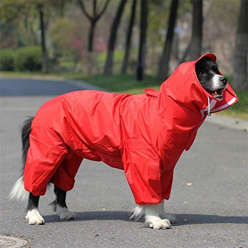 gengyouyuan Hund All Inclusive Regenmantel Freiliegende große, mittlere und kleine Hunde, vierbeinige Kleidung Haustier Hund reflektierender Regenmantel -