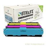 3x MWT Toner für Canon Color ImageClass LBP 7110 wie 731 CRG-731 Color Blau Rot Gelb