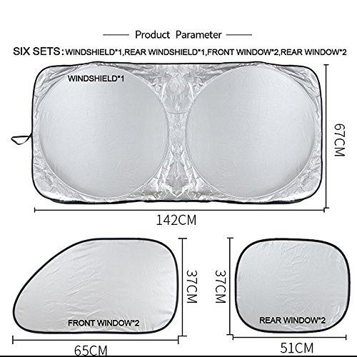 Auto-parasole-parasole--Seametal-6-x-pieghevole-parabrezza-Covers-UV-riflettore-veicolo-Protector