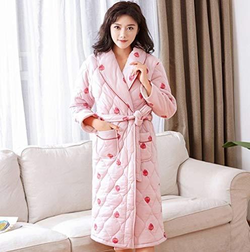 YPDM Vestido Noche Talla Grande M-3XL Kimono Pijama