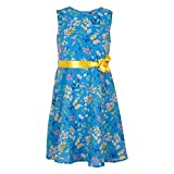SUPERYOUNG AOP LINED DRESS WITH BELT