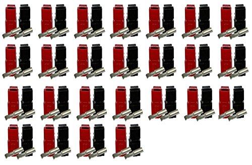 50 Stück Anderson Powerpole SET, 50x 30A Kontakt, 25x Gehäuse rot, 25x Gehäuse schwarz Anderson Powerpole