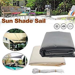 AutoBaBa Sonnensegel Sonnensegel Sonnensegel für Garten Terrasse Überdachung UV Block Wasserdicht Dreieck Rechteck Grau