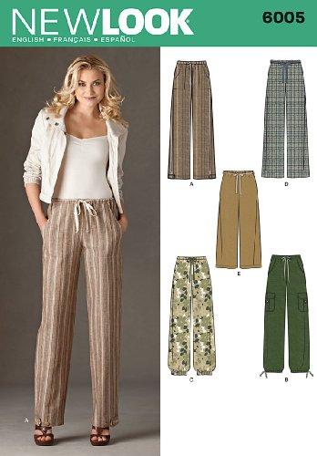 New Look 6005 - Cartamodello per pantaloni
