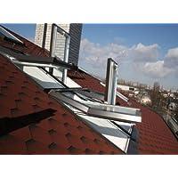 AFG Skylight Kunststoff Dachfenster PVC 94 x 140 mit Eindeckrahmen Schwingfenster Dachflächenfenster !!! kurze Lieferzeit bei BTW !!!