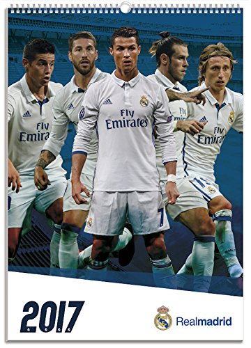 Official Real Madrid 2017 A3 Wall Calendar