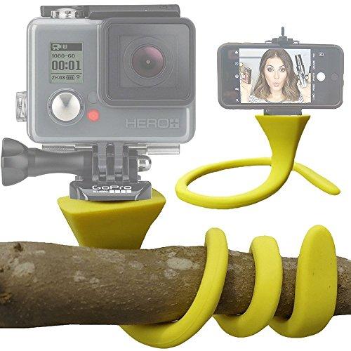 Spezial 2019 Flexibles Stativ Tripod Halter & Selfie Stick geeignet für iPhone, Samsung, GoPro und weitere Actioncams