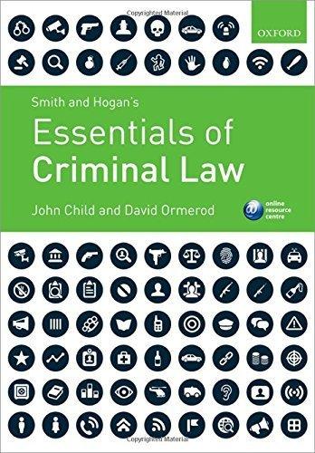 Smith & Hogan's Essentials of Criminal Law by John Child (2015-07-14)