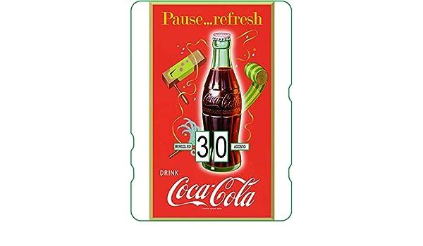 Pause Refresh Wherever You Go Calendario perpetuo Coca-Cola