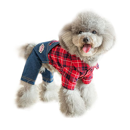 Sild Haustier Kleidung Hund Jeans Jacke Cool Blue Denim Mantel Kleine Medium Hunde Revers Westen Classic Jumpsuit Puppy Blue Vintage Washed Kleidung (Shirt Labrador-denim)