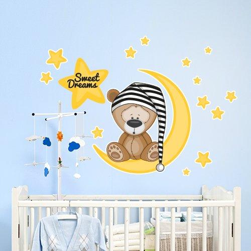 R00101 Adesivo murale per bambini Wall Art 'Orsetto con...