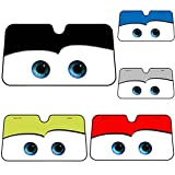 Front Windshield Sunshade Visor Foldable Cartoon Car Windscreen Frost Snow Cover (Black)