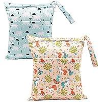 BOBORA Bolsa de Pañales Reutilizable Bolsa con Cremallera Impermeable para mamá Paquete de 2