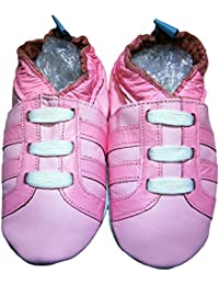 bbkdom - « Baskets All Pink » Chaussons cuir souple bébé et enfant