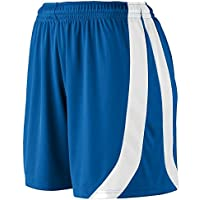 Augusta -  Pantaloncini sportivi  - Donna Blu Bianco Royal L