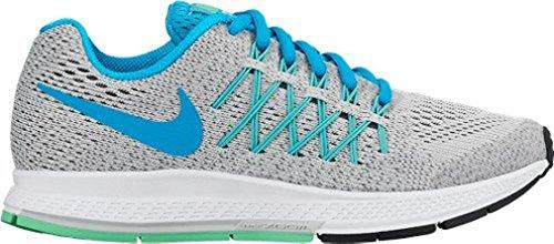 Nike Zoom Pegasus 32 (GS), Chaussures de Running Entrainement Fille Argenté / bleu / gris (platine pur / lagon bleu - gris froid)