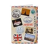 TravelFun - Funda de pasaporte  multicolor N-96