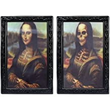 Umiwe 3D Face changing ritratto Stereograph spaventare immagine Horrible foto horror gadget per gothic tema Halloween party fasi proprietà Mona Lisa