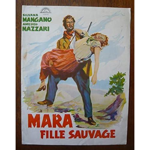 Dossier de presse de Mara fille sauvage – 1950 – Plié, 21 cm x 31 cm, 4 pages Film de Mario Camerini avec Silvana Mangano, Amedeo Nazzari - Photos N&B et couleurs – Bon état.